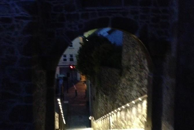 Saint Canice's Steps, Handrail Lights