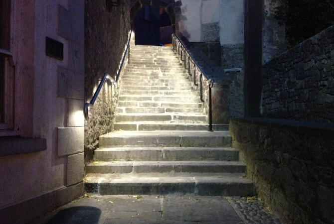 Saint Canice's Steps, Handrail Lights