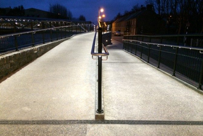 "Handrail Lighting , ""The Lady Desart Bridge' ,Winner RIAI expo 2015"