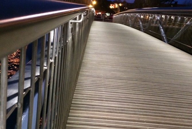 "Handrail Lighting , ""The Lady Desart Bridge' ,Winner RIAI expo 2015"
