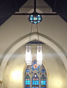 Church Lighting Design at Methodist Church Dunlaoire