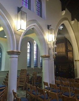 Church Lighting Design at Methodist Church Dunlaoire