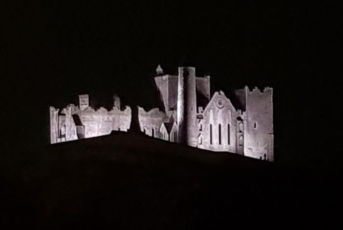 Lighting The Rock Of Cashel